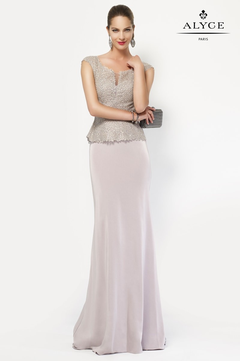 Alyce Paris Long Strapless Dress