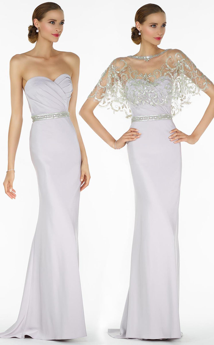 Alyce Paris Strapless Ruched Gown