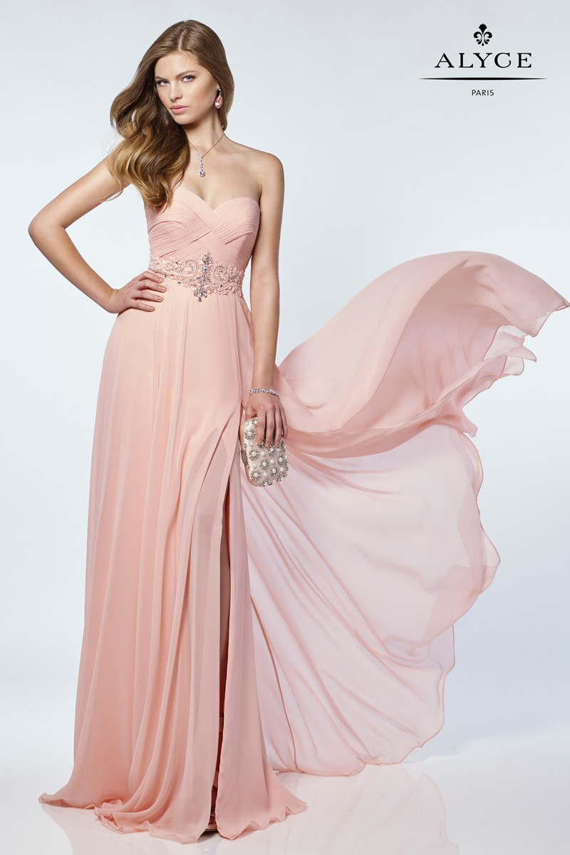 Alyce Paris Chiffon Long Dress