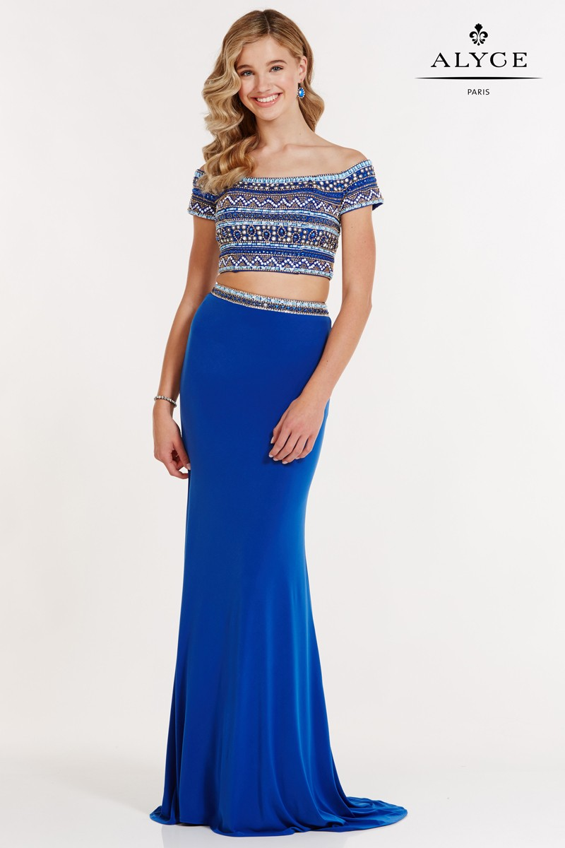 Alyce Paris Two Piece Jersey Dress