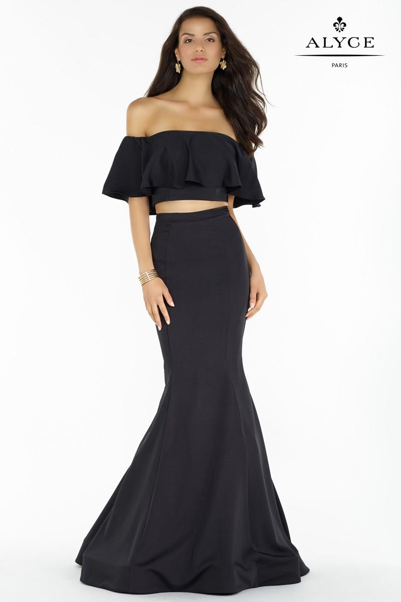 Alyce Paris Off The Shoulder Gown