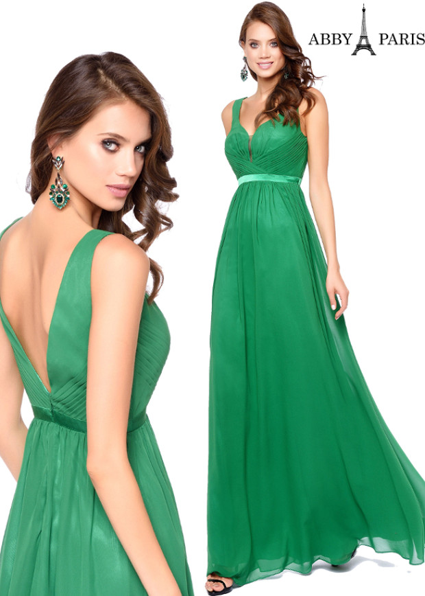 Lucci Lu Plunge Neck Gown