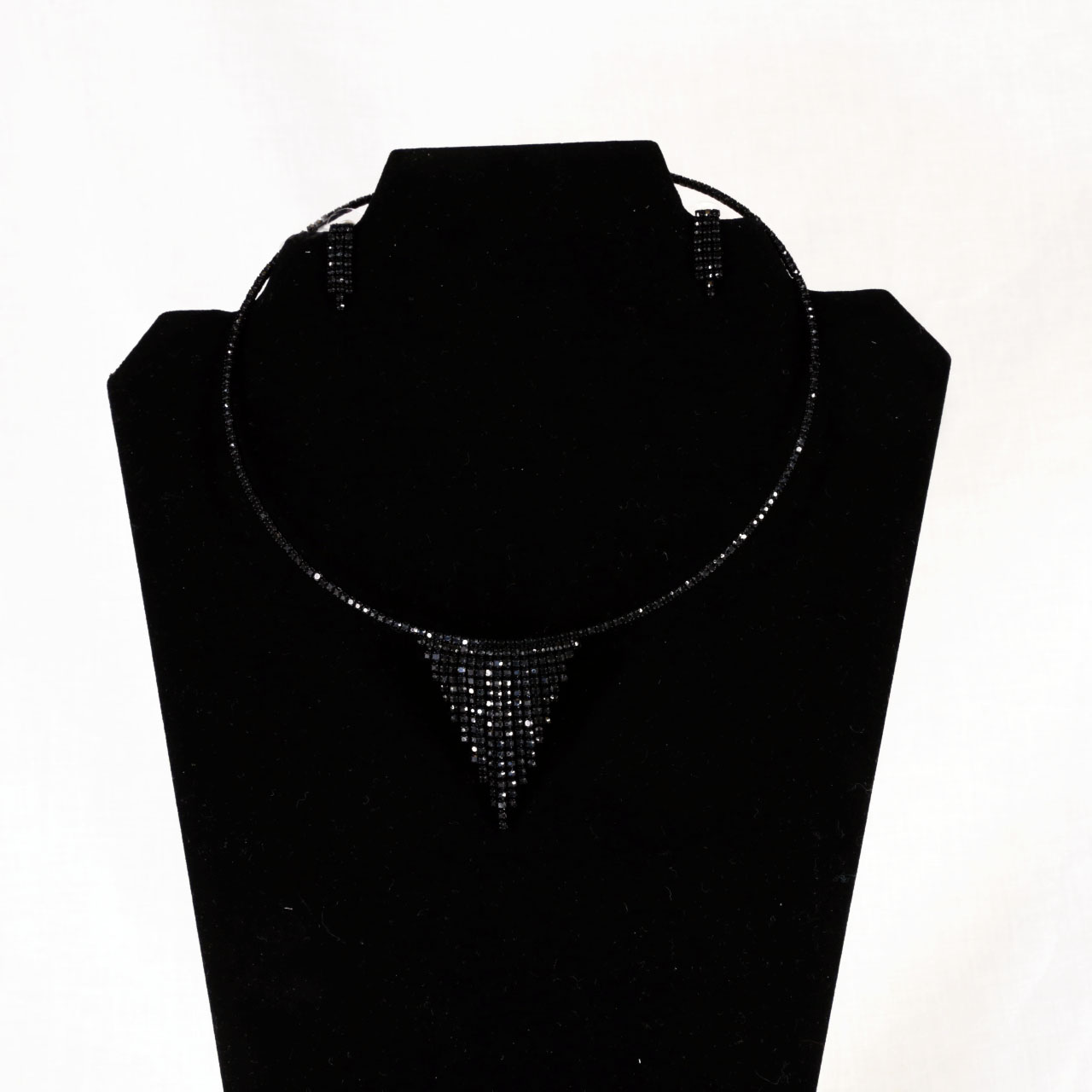 Black Rhinestone Jewelry Set