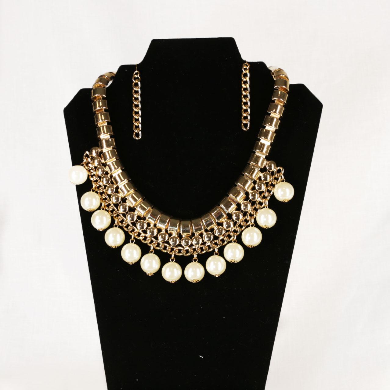 Gold pearl Jewelry Set