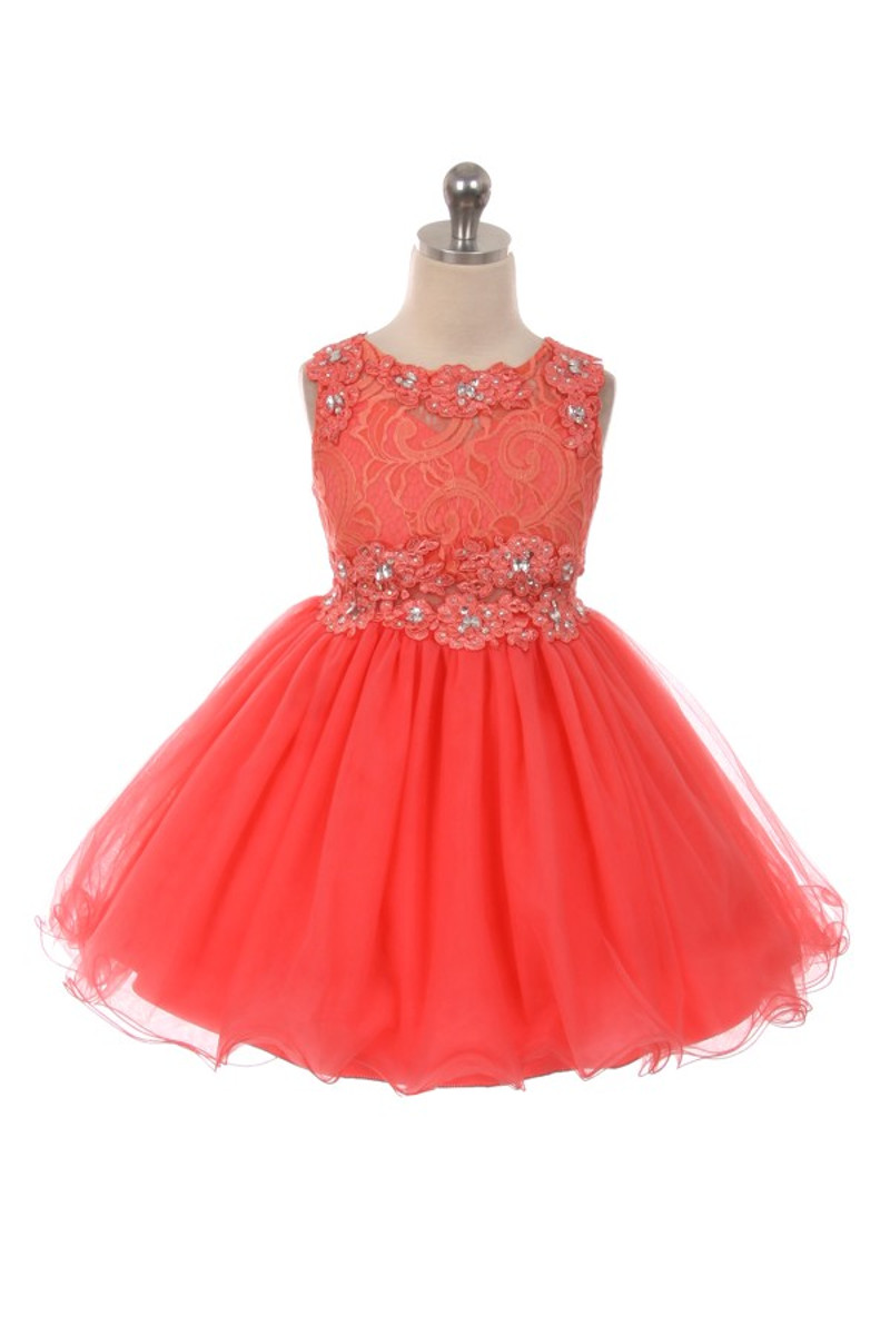 Girl Coral Dress