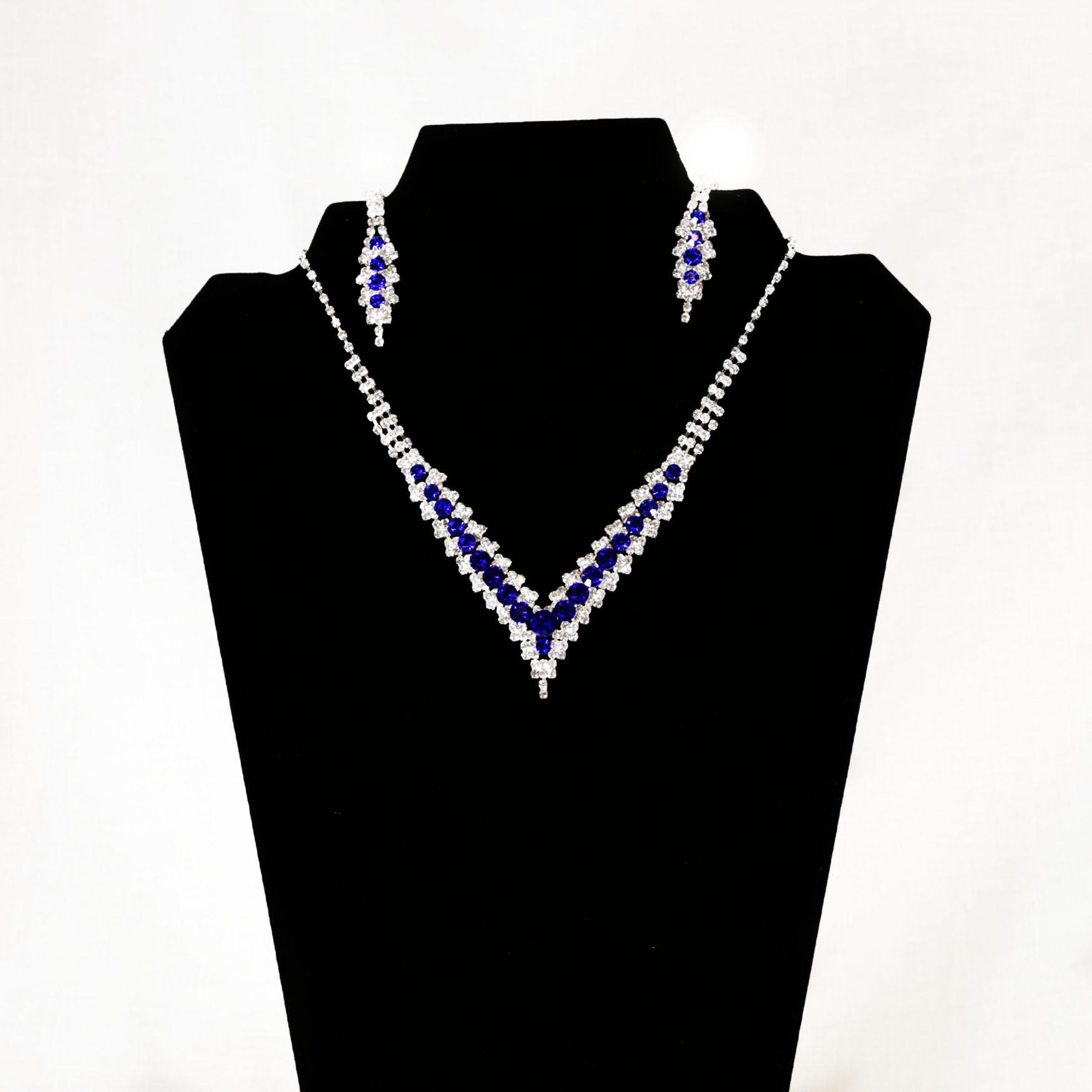 Blue Stone Jewelry Set