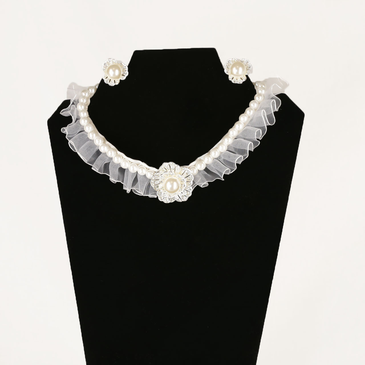 Floral Pearl Jewelry Set