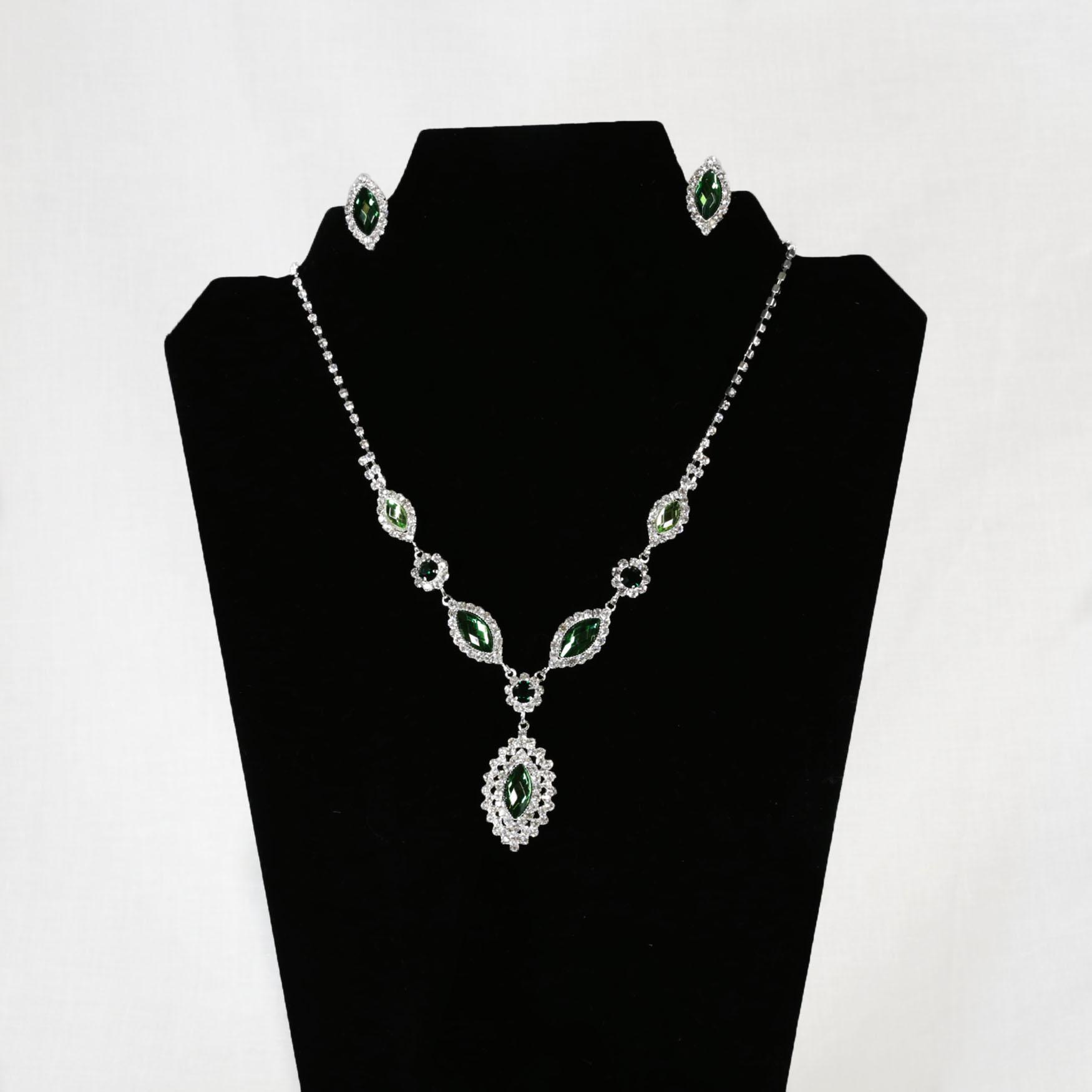Light Green Stone Jewelry Set