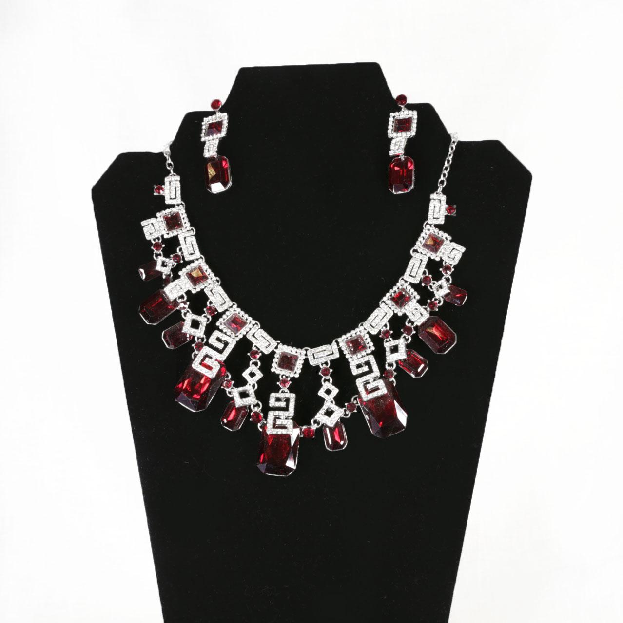 Red Stone Jewelry Set