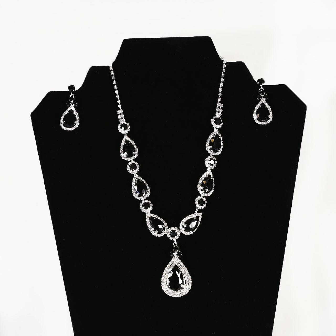 Black Stone Jewelry Set