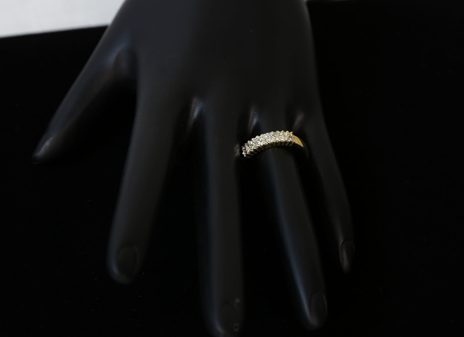 Wedding Diamond Clear Gold Ring