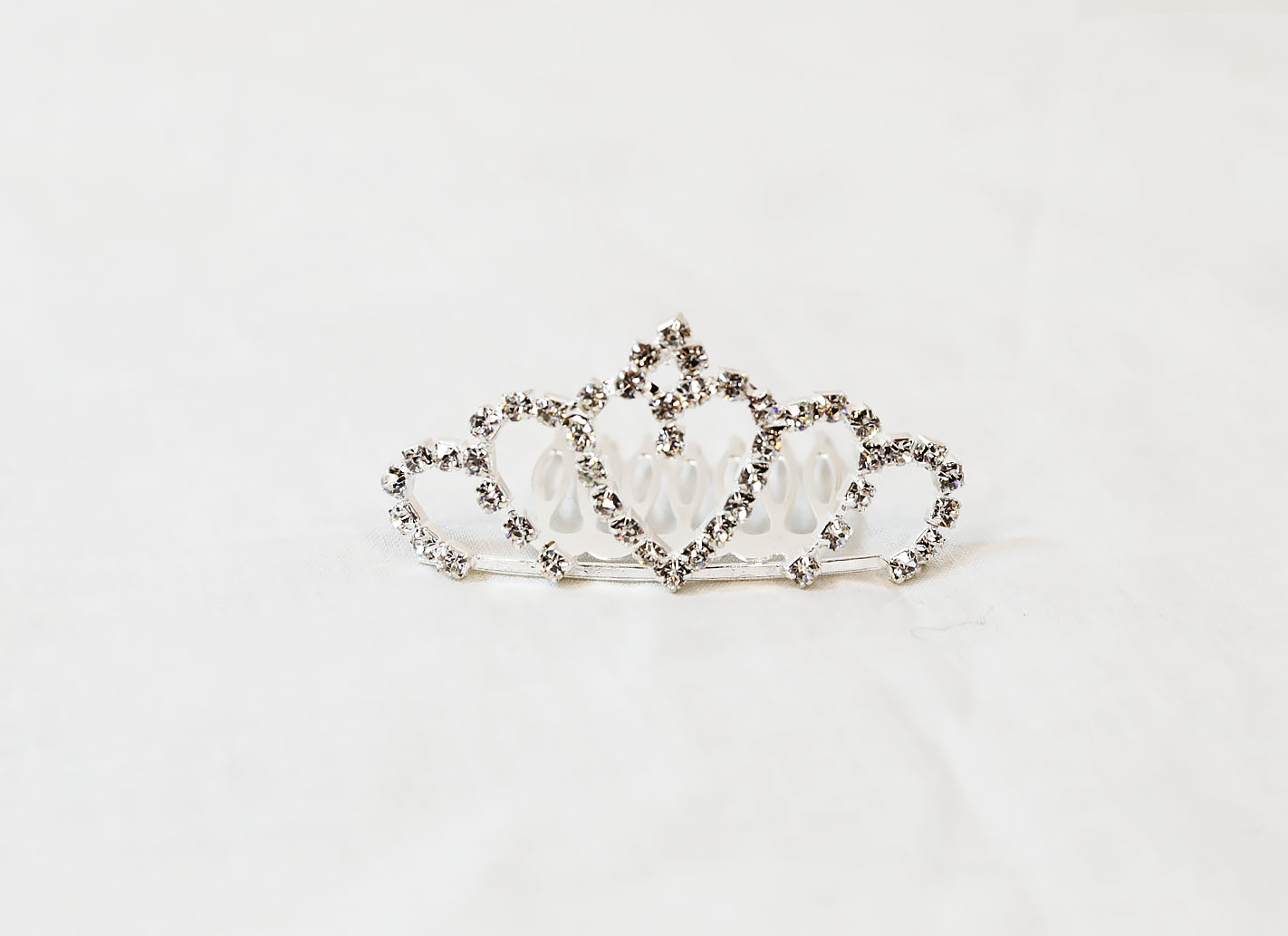 This Silver Heart Child's Tiara Comb