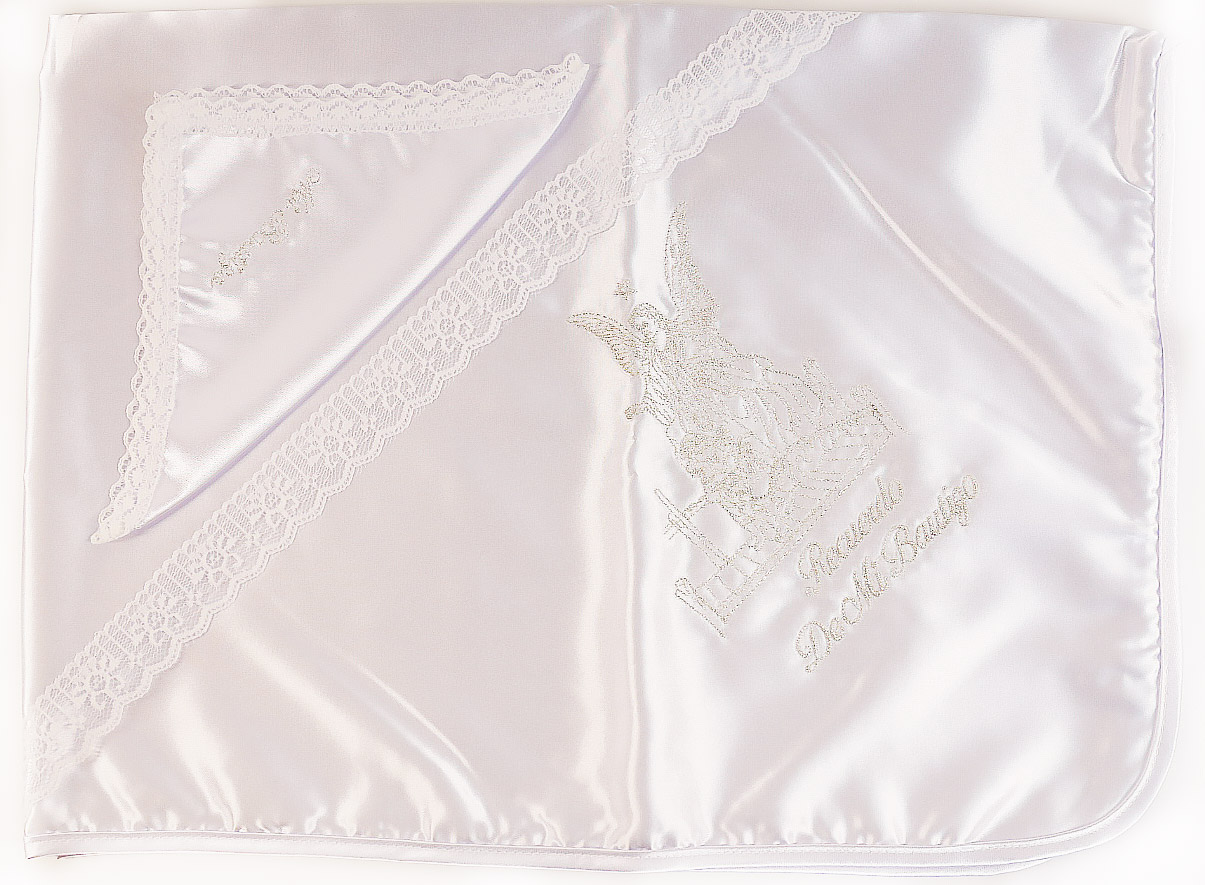 Satin Baptism Blanket