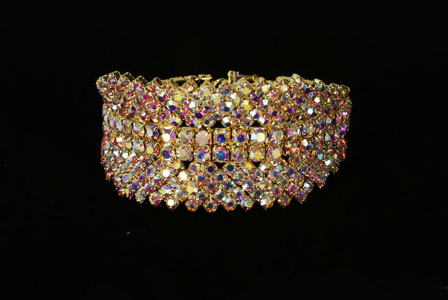 Iridescent Rhinestones Crystal Bracelet