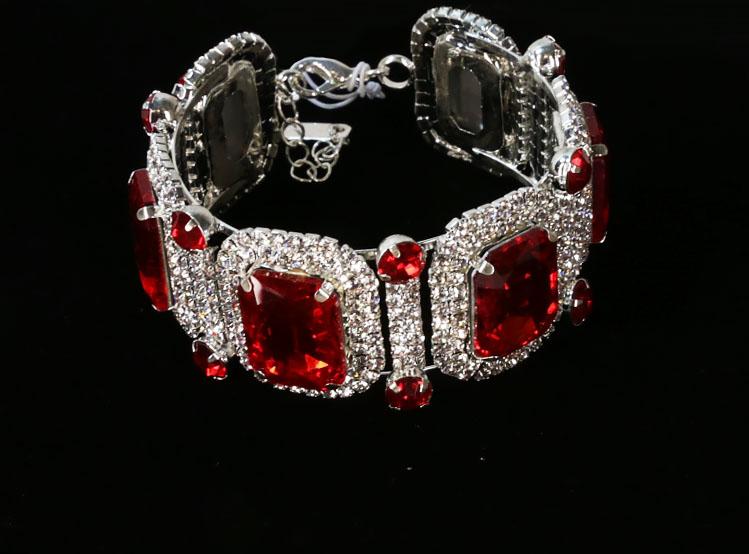 Big Stone Rhinestone Crystal Bracelet