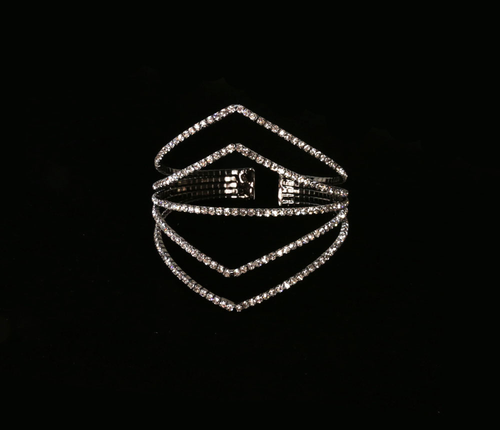 Crystal Avenue Wire Cuff Crystal Bracelets
