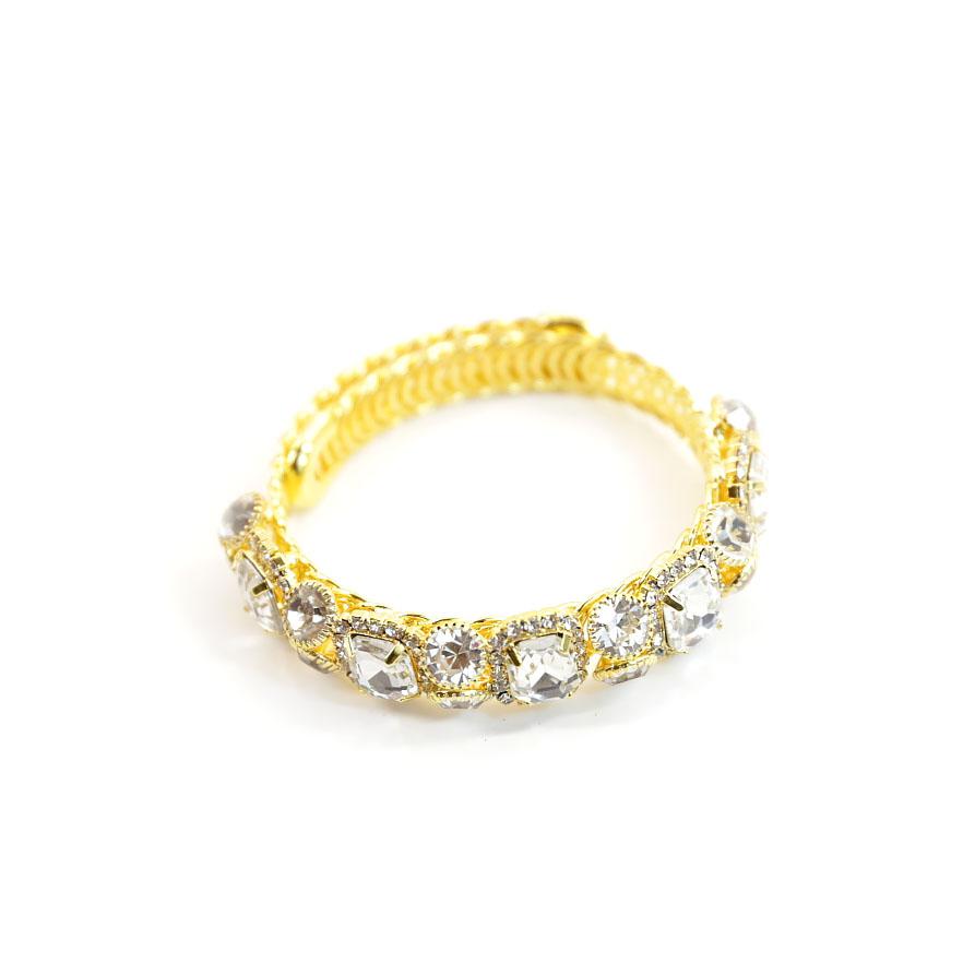 Wrap Bangle Gold Bracelet
