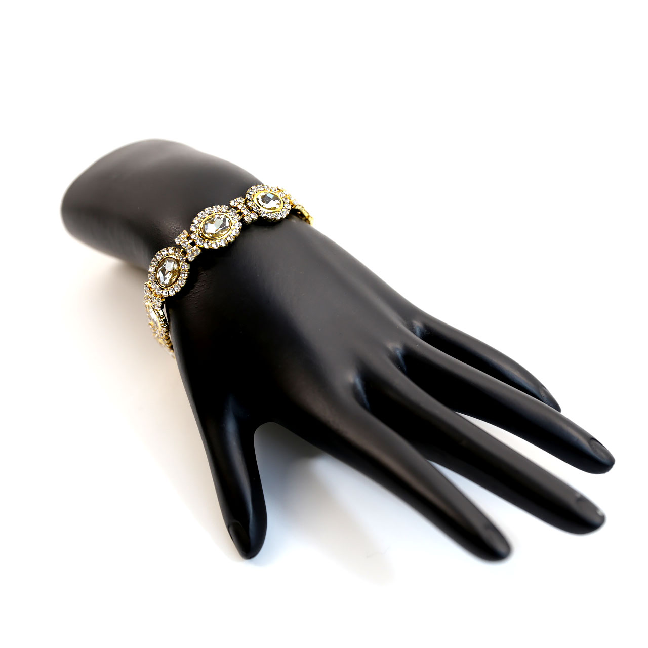 Gold Round Crystal Bracelet