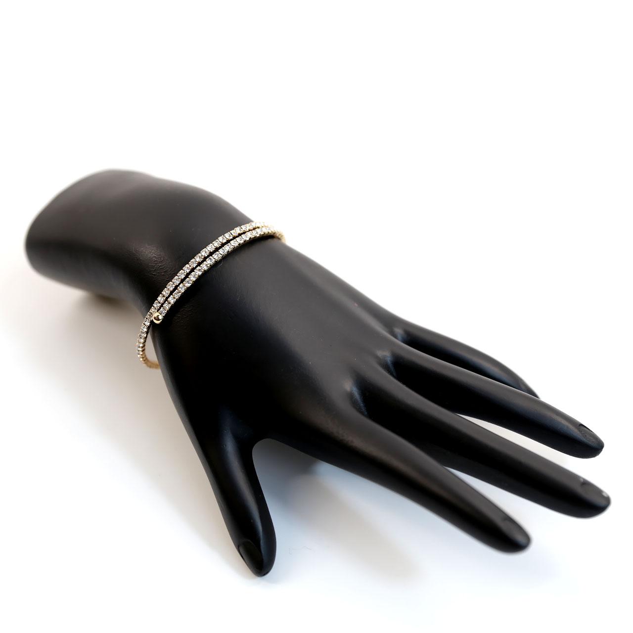 Crystal Avenue Gold Wrap Crystal Bracelet