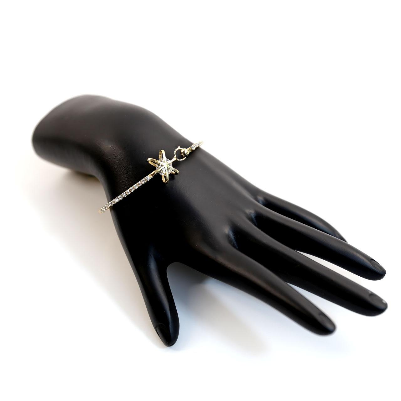 Bangle Gold Crystal Bracelet