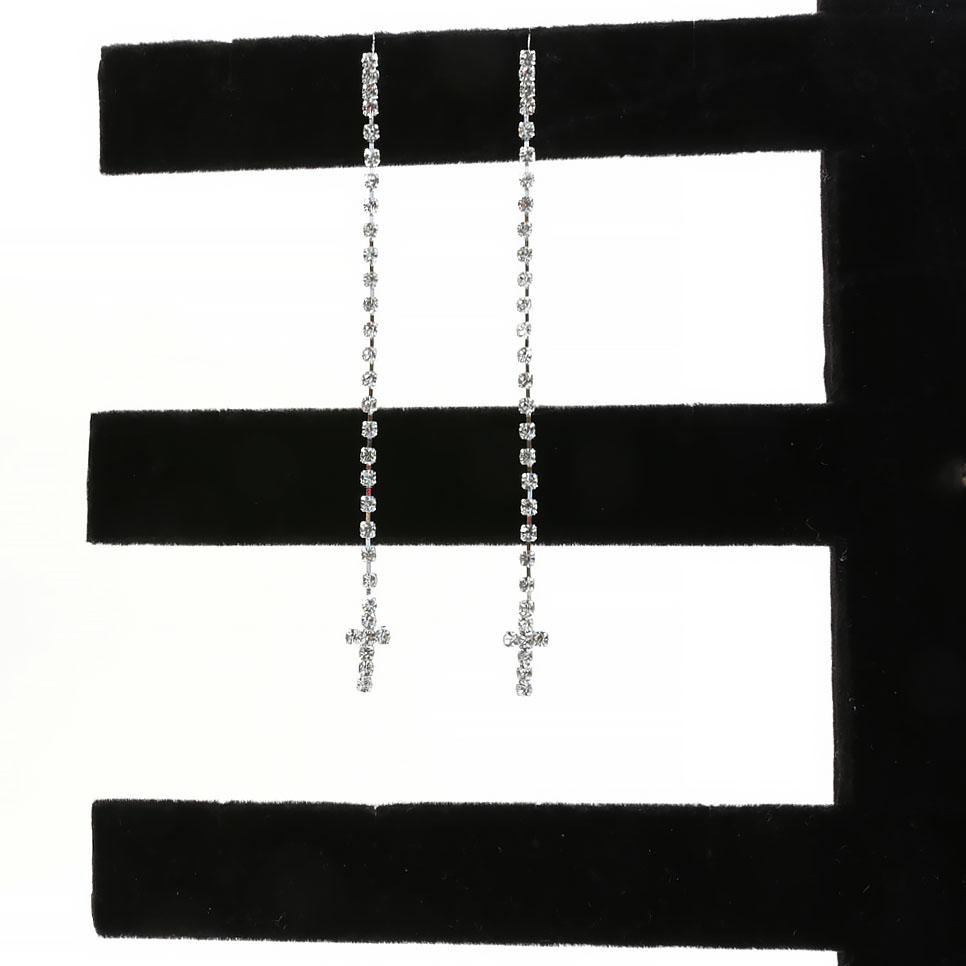 Sophia Collection Cross Dangle Earrings
