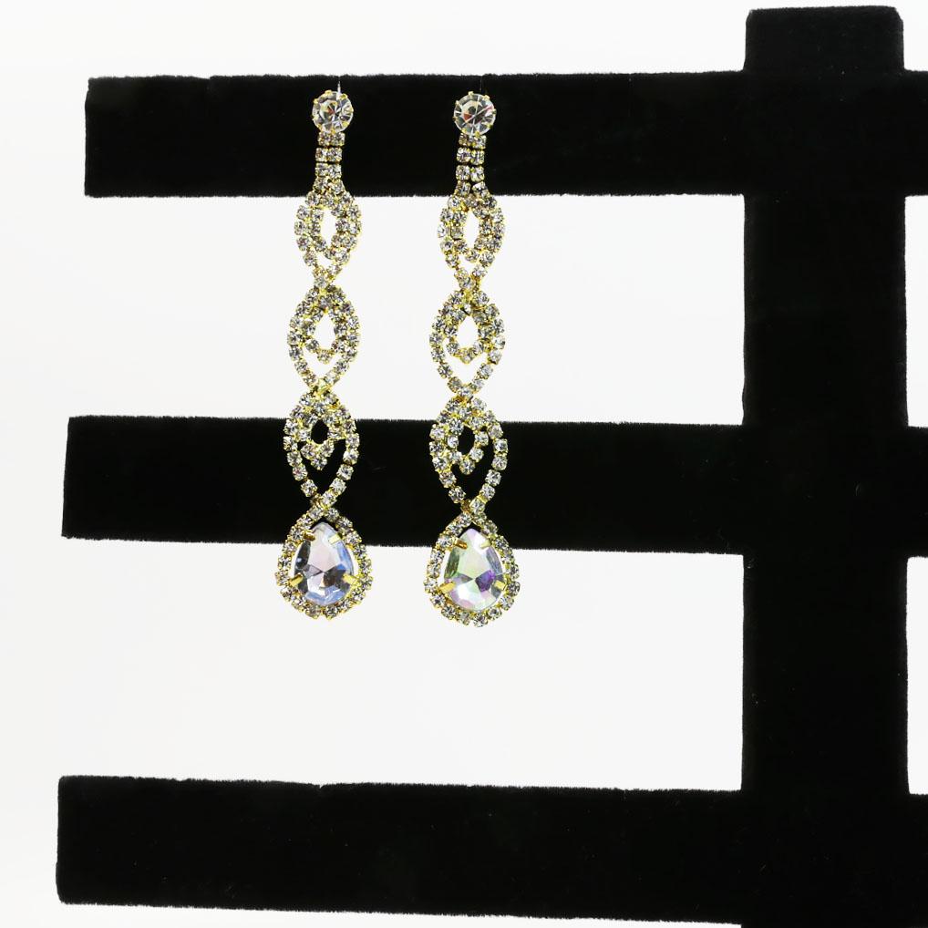 Gold Dangle Chandelier Earrings