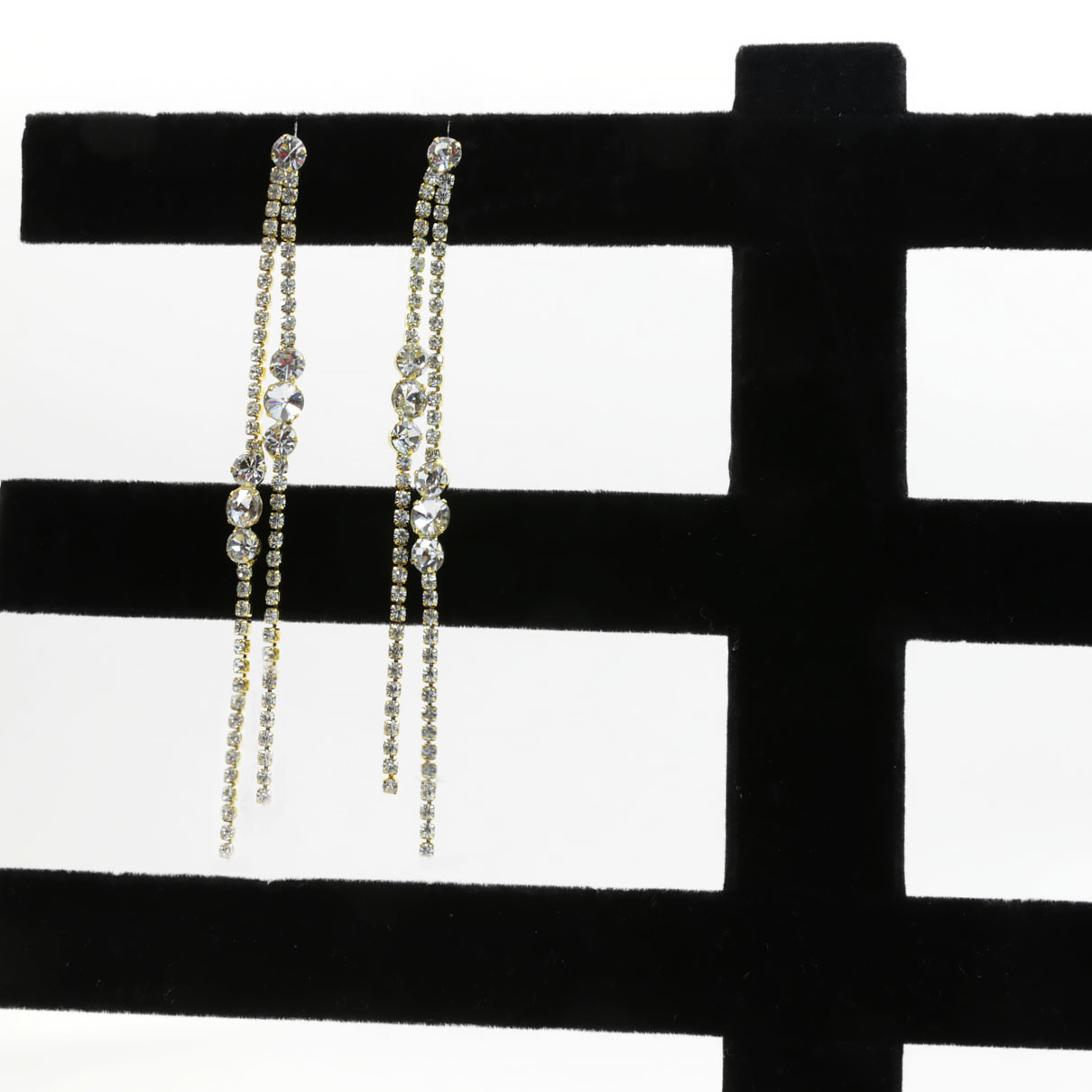 multi-chain dangle earrings